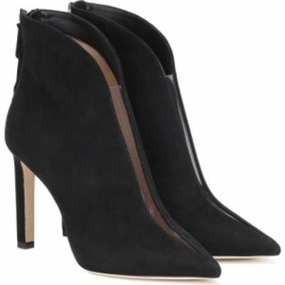 ジミー チュウ Jimmy Choo レディース ブーツ ショートブーツ シューズ・靴 bowie 100 suede ankle boots Black Clear