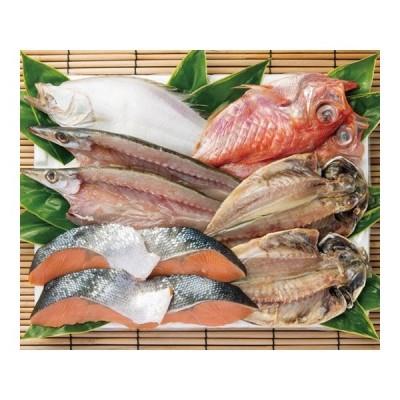 お中元 ギフト 味の十字屋 一夜干 鮭詰合せ (FE-50) 石川 金沢名産品 海産物 送料別 冷凍