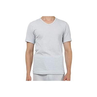 [新商品]ひだまり本舗[紳士用]ひだまり ソフト 半袖シャツ (M, ペールグレー)[X-951-PGY]