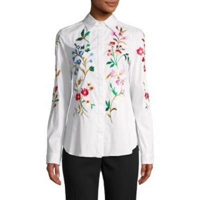 オスカーデラレンタ レディース トップス シャツ Floral Cotton Blouse