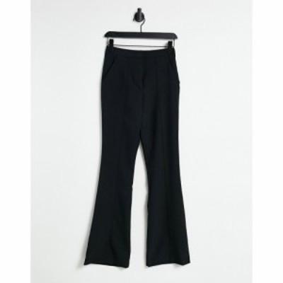 エイソス ASOS DESIGN レディース スキニー・スリム ボトムス・パンツ Slim Kick Flare Trousers With Seams In Black ブラック