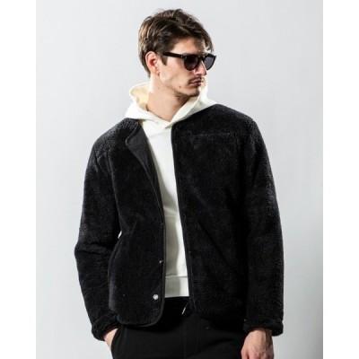 ジャケット ブルゾン reversible boa fleece