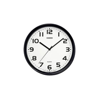 IQ-24-1JF カシオ 掛時計 クオーツクロック シンプル インテリアクロック ブラック