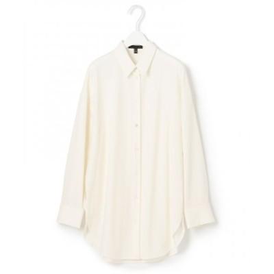 ICB/アイシービー 【浅見れいなさん着用】WoolGeorgette ブラウス オフホワイト系 2