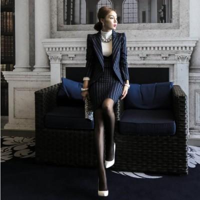 セットアップ ジャケット ジャンパースカート ストライプ お出かけ 入園 入学 卒園 卒業 通勤 きれいめ カジュアル 大人可愛い 韓国ファッション