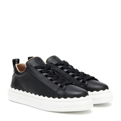 クロエ Chloe レディース スニーカー シューズ・靴 lauren leather sneakers Black