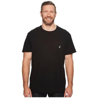 ノーティカ Nautica Big & Tall メンズ Tシャツ 大きいサイズ ポケット トップス Big & Tall Short Sleeve Anchor Pocket Tee True Black