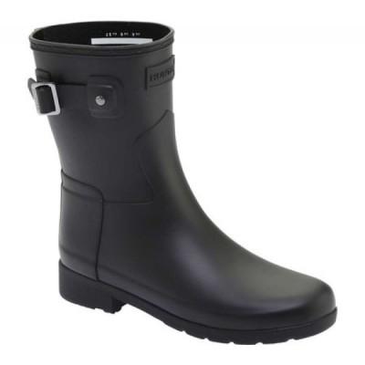ハンター Hunter レディース レインシューズ・長靴 シューズ・靴 Original Refined Short Rain Boot Black