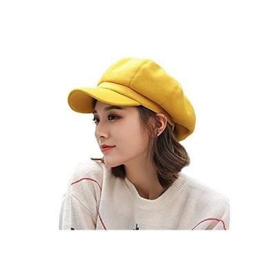 (サモルックス)Sumolux 帽子 レディース キャスケット ベレー帽 秋冬 サイズ調節可 防寒 ツバ付き 自転車 大きいサイズ (56-58cm)