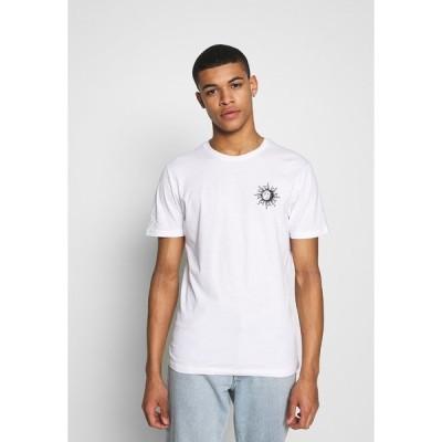ピアワン Tシャツ メンズ トップス SUN MOON TEE - Print T-shirt - white