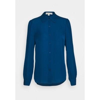 マイケルコース シャツ レディース トップス Button-down blouse - river blue