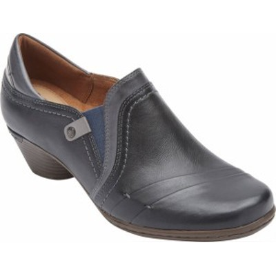 ロックポート レディース ブーツ・レインブーツ シューズ Cobb Hill Laurel Slip On Shootie Blue Leather