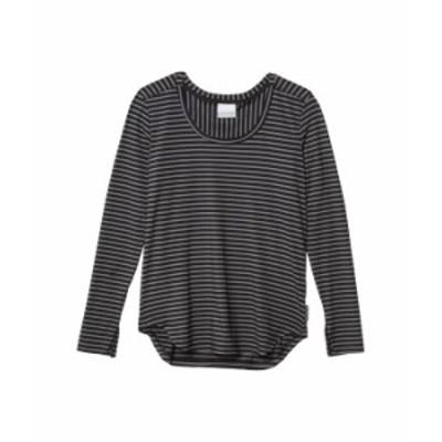 コロンビア レディース シャツ トップス Firwood Camp¢ Long Sleeve Tee Black Medium Stripe