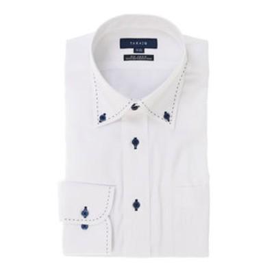形態安定レギュラーフィットドゥエボットーニボタンダウン長袖ビジネスドレスシャツ