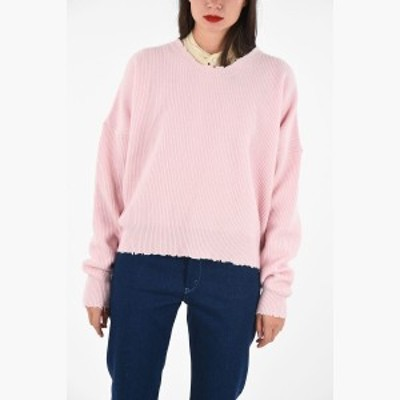 PLUS QUE MA VIE Pink レディース ribbed oversize sweater dk