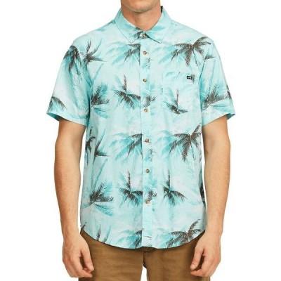 ビラボン シャツ トップス メンズ Men's Sundays Floral Shirt Aqua