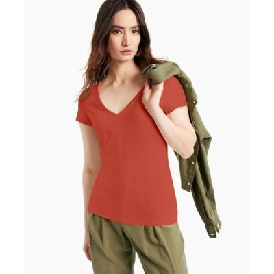 アイエヌシーインターナショナルコンセプト レディース シャツ トップス INC Cotton V-Neck T-Shirt
