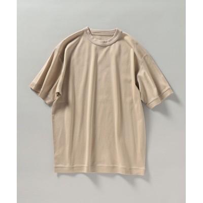 【シップス】 SHIPS: マーセライズド ジャージー クルーネック Tシャツ メンズ ベージュ MEDIUM SHIPS