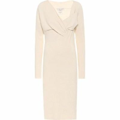 ボッテガ ヴェネタ Bottega Veneta レディース ワンピース ミドル丈 ワンピース・ドレス Knit midi dress Off White