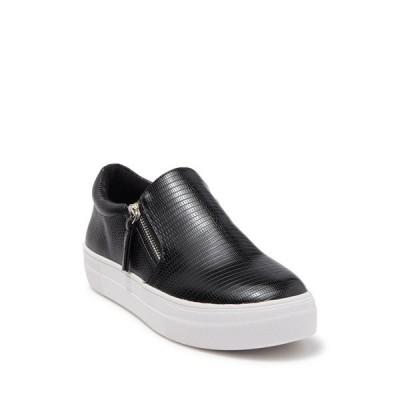 スティーブ マデン レディース スニーカー シューズ Glaammar Zip Platform Sneaker BLACK SNAKE