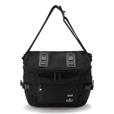 【ショット】 SHOULDER BAG/ショルダーバッグ/SCHOTT×MAKAVELIC (ショット×マキャベリック) メンズ ブラック F Schott