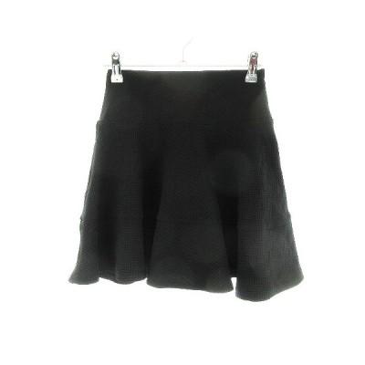 【中古】ムルーア MURUA スカート フレア ミニ 総柄 S 黒 ブラック /CK レディース 【ベクトル 古着】