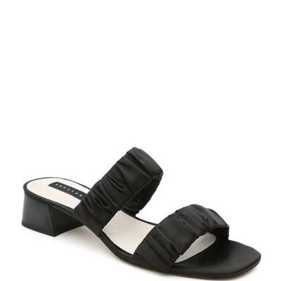 サンクチュアリー レディース サンダル シューズ Rave Silky Scrunchie 2 Band Block Heel Slide Sandals