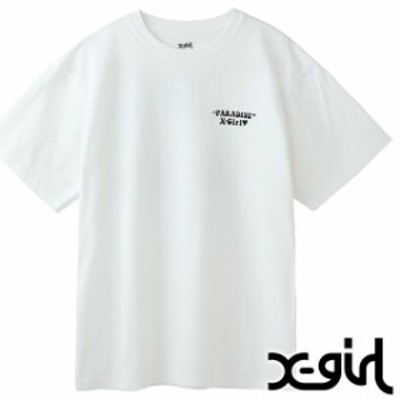 【50%OFF】エックスガール X-girl レディース Tシャツ PARADISE S/S TEE [105202011022 SU20] XGIRL トップス 半袖 WHITE ホワイト系 【