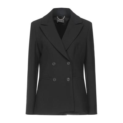 アトス ロンバルディーニ ATOS LOMBARDINI テーラードジャケット ブラック 42 ポリエステル 63% / レーヨン 27% / コッ