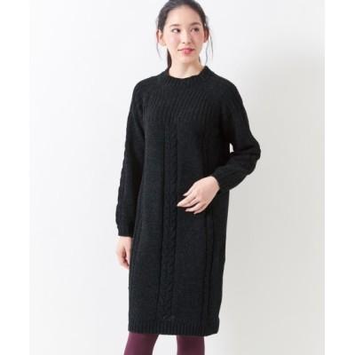 【大きいサイズ】 モールヤーンニットワンピース(MIIA) ワンピース, plus size dress