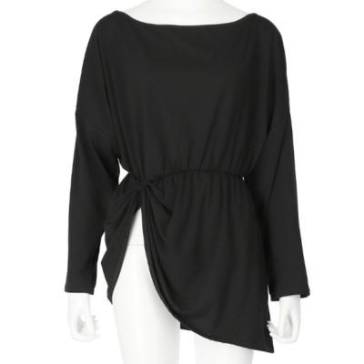 ANAP ドレープロングTシャツ(ブラック)
