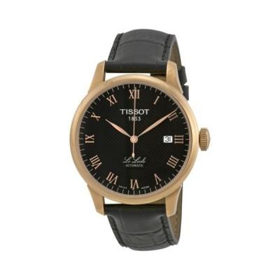 腕時計 ティソット Tissot Le Locle オートマチック ブラック ダイヤル メンズ 腕時計 T41542353