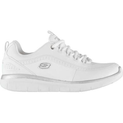 スケッチャーズ Skechers レディース スニーカー シューズ・靴 Status Trainers White