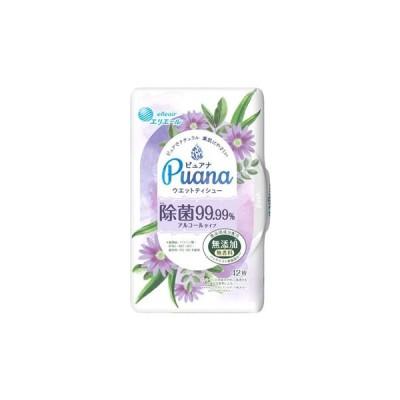 大王製紙 エリエール Puana ピュアナ ウエットティシュー 除菌99.99% アルコールタイプ 本体 (42枚) ウェットティッシュ