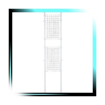 アイリスオーヤマ パーテーション メッシュ 幅45×奥行7×高さ200~270cm ホワイト RP-420