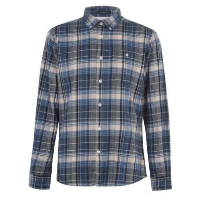バブアー Barbour International メンズ シャツ トップス MQ Rider Shirt Blue BL