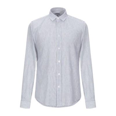 ビッケンバーグ BIKKEMBERGS シャツ ダークブルー 42 麻 55% / コットン 45% シャツ