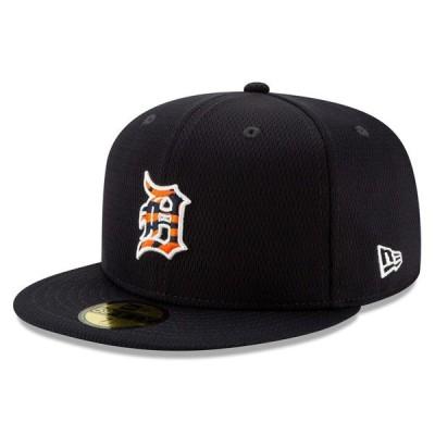 ニューエラ 帽子 アクセサリー メンズ Detroit Tigers New Era 2020 Batting Practice 59FIFTY Fitted Hat Navy