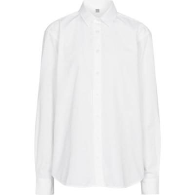 トーテム Toteme レディース ブラウス・シャツ トップス cotton poplin shirt White