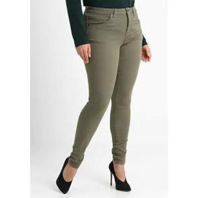 Zizzi レディースデニム Zizzi AMY LONG - Jeans Skinny Fit - dusty olive