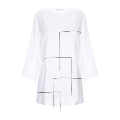 ファビアナフィリッピ FABIANA FILIPPI T シャツ ホワイト 40 コットン 100% / エコブラス T シャツ