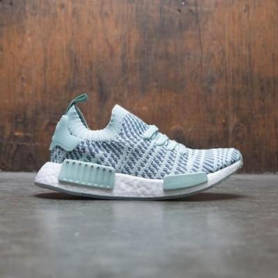 ユニセックス スニーカー シューズ Adidas Women NMD R1 STLT Primeknit W (green / ash green / raw steel / footwear white)