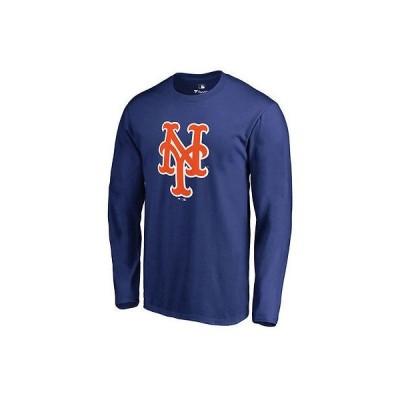 ファナティックス ブランディッド ベースボール MLB 野球 アメリカ USA 全米 New York Mets Royal Team カラー Primary Logo 長袖 Tシャツ