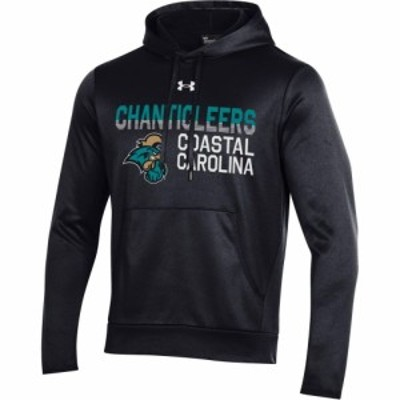 アンダーアーマー Under Armour メンズ パーカー トップス Coastal Carolina Chanticleers Armour Fleece Performance Black Hoodie