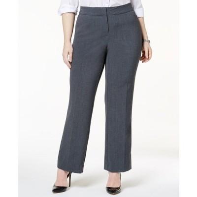 ジェイエムコレクション カジュアルパンツ ボトムス レディース Plus & Petite Plus Size Curvy-Fit Straight-Leg Pants Rockport Grey