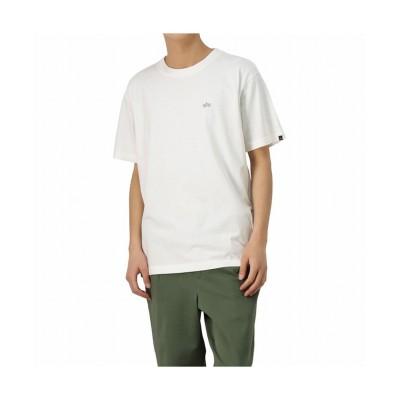 【マックハウス】 ALPHA アルファ バックリフレクタープリント半袖Tシャツ TC1470-99 メンズ ホワイト XL MAC HOUSE