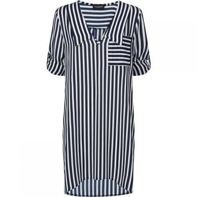 ジュームズ レイクランド James Lakeland レディース ワンピース チュニックドレス ワンピース・ドレス Stripe Collar Tunic Dress Navy