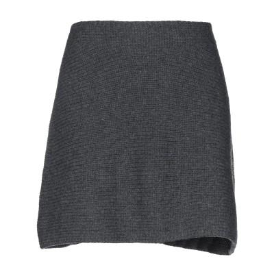 ファビアナフィリッピ FABIANA FILIPPI ひざ丈スカート 鉛色 one size バージンウール 75% / シルク 15% / カシミ