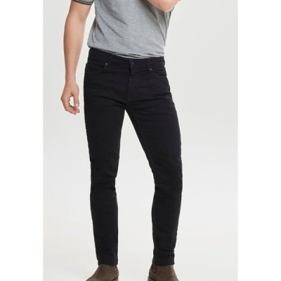 オンリーアンドサンズ デニムパンツ メンズ ボトムス LOOM - Slim fit jeans - black denim