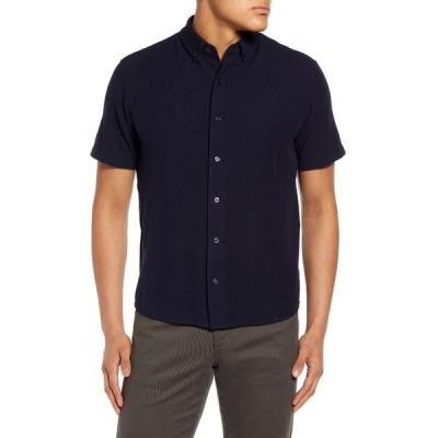 ヴィンス メンズ ポロシャツ トップス Slim Fit Short Sleeve Piqu Shirt COASTAL